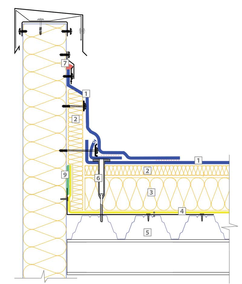 технически решения на покривна система Класик