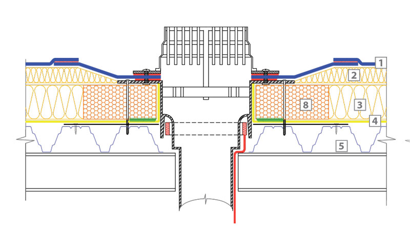 технически решения плосък покрив Класик