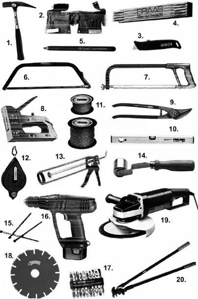 инструменти за монтаж на керамични керемиди