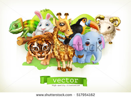 cute-giraffe-small-tiger-baby-elephant-chameleon-toucan-happy-bunny-lamb-517954162
