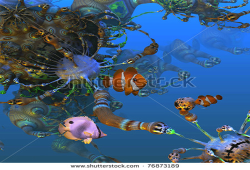 stock-photo-d-ocean-fractal-with-fish-76873189