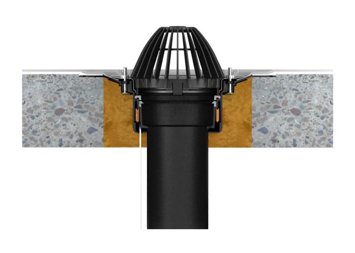 voronka-corrugated-flange-Heated-use